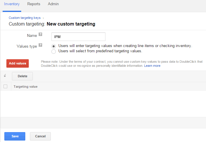 screenshot on custom targeting